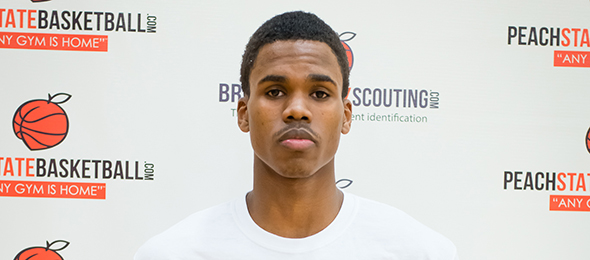 Class of 2017 guard Tylor Brown of Gainesville, Ga., made an impression at #EBATop40. Photo cred - Kim Carpenter @KimGotGrins
