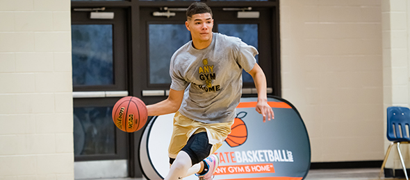 Class of 2017 wing Jordan Usher of Woodstock, Ga., showed why he is a highly coveted recruit nationally at the #EBATop40 Saturday night. Photo cred - Kim Carpenter