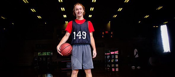 Class of 2020 guard Sawyer Pace of Homer, Ga., backed up his June performance with a solid showing at #EBAAllAmerican Camp. Photo cred - Ty Freeman