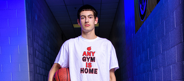Class of 2018 forward Dylan Orr is next up for Banks County (GA). Photo cred - Ty Freeman/#EBASuper64
