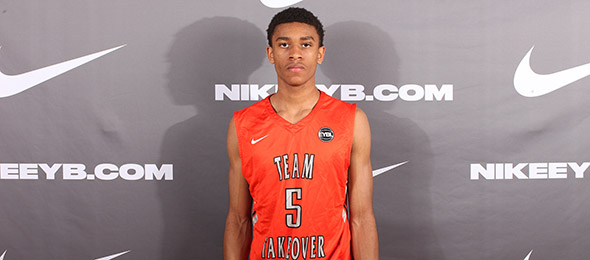 Class of 2017 Aaron Thompson of Glendale, Md., is a proven play-maker and distributor. Photo cred - Jon Lopez/Nike