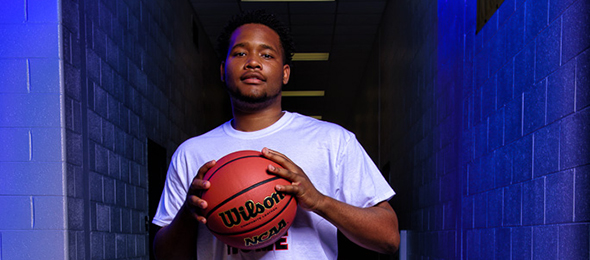 Class of 2017 wing Quay Carruth of Banks County (GA) had a great camp at #EBASuper64. Photo cred - Ty Freeman
