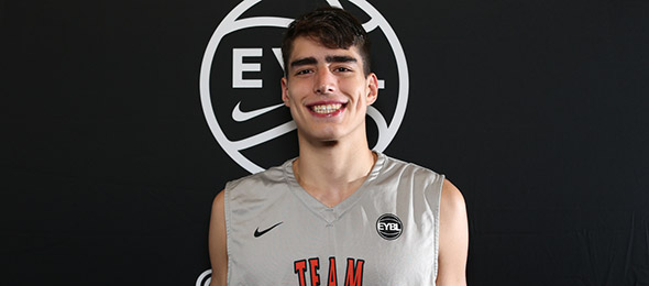 Class of 2017 post Luka Garza of Arlington, Va., had a big year on the EYBL circuit. Photo cred - Jon Lopez/Nike