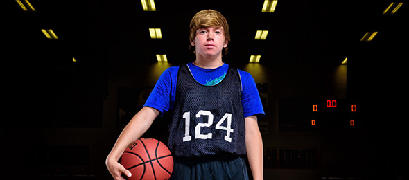 Class of 2020 guard Blake Caudell of Homer, Ga., got on the map at #EBAAllAmerican Camp. Photo cred - Ty Freeman