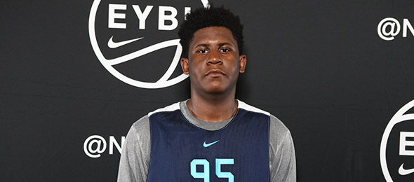 Class of 2019 power forward BJ Mack of Charlotte, N.C., is one of the nation's premier low post scorers. (Photo by Jon Lopez)
