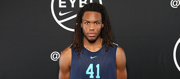 Class of 2019 wing Christian Brown of Columbia, S.C., projects to one of the best at his position nationwide. (Photo by Jon Lopez)