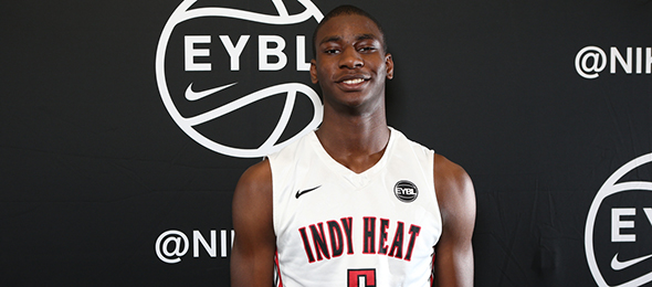 Class of 2017 forward/center Jaren Jackson of Indianapolis, Ind., is one of the most versatile big men in the country. (Photo by Jon Lopez)