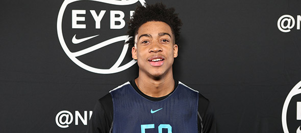 Class of 2019 forward Trendon Watford of Mountain Brook, Ala., is one of the best in his class following a stellar season on the EYBL circuit. (Photo by Jon Lopez)