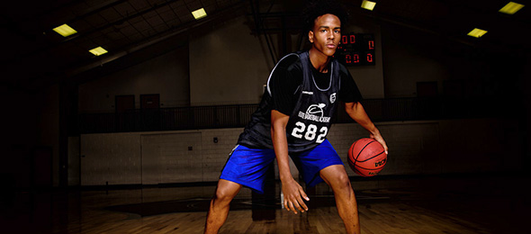 Class of 2018 guard Jaylen Bussey of Lawrenceville, Ga., is a dynamic play-maker. Read his evaluation from #EBAAllAmerican Camp. Photo cred - Jaylen Bussey