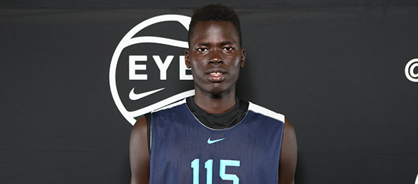 Class of 2019 post Chol Marial of Cheshire Academy is a prospect with enormous upside. (Photo by Jon Lopez)