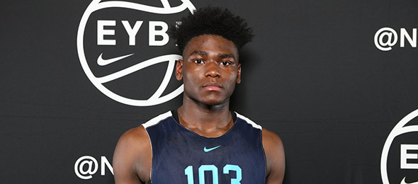 Class of 2019 forward Isaiah Stewart of Rochester, N.Y., showed promise and production at the Nike Elite 100 Camp. (Photo by Jon Lopez)