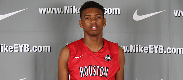 Class of 2017 post Royce Hamm of Houston, Texas, will take his skill set to Austin next season. Photo cred - Jon Lopez