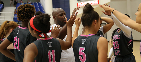 Thomas Davis helped lead Exodus EYBL back to Nike Nationals this year. Before the July finale, they starred at PSB Tourneys gaining national exposure. Photo cred - Larry Rhinehart