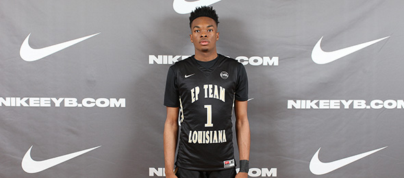 Class of 2018 point guard Javonte Smart of Baton Rouge, Louisiana, is one of the nation's elite. Photo cred - Jon Lopez/Nike