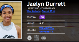 BrandonClayScouting: Jaelyn Durrett to Wilmington University – May 30, 2018